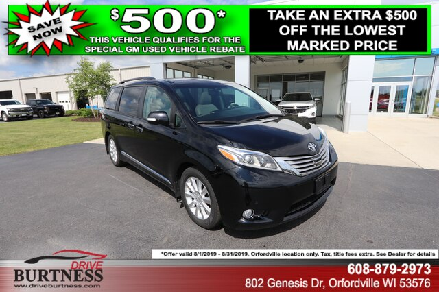 Pre-Owned 2017 Toyota Sienna Limi